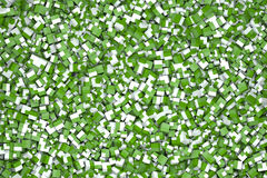 Cubes in green and white Stock Photography