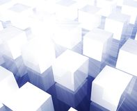 Cubes grid background Stock Images