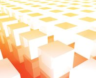 Cubes grid background Royalty Free Stock Photography