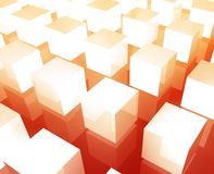 Cubes grid background Stock Photography