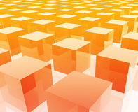 Cubes grid illustration Royalty Free Stock Images