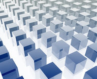 Cubes grid illustration Royalty Free Stock Photo