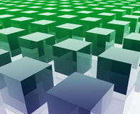 Cubes grid illustration Stock Photography