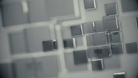 Cubes gris en rotation de fond avec les bords mous illustration de vecteur