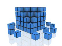 Cubes group Stock Image