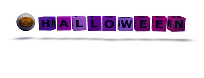 Cubes with halloween word Stock Image