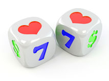 Cubes with heart Stock Image