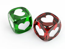 Cubes with heart Stock Images