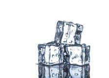Cubes of ice close up Stock Photos