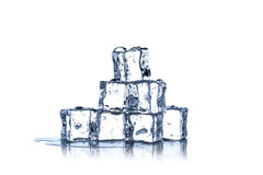 Cubes of ice close up Royalty Free Stock Photography