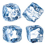 Cubes of ice on a white background. With clipping path Stock Photo