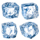 Cubes of ice on a white background. With clipping path Royalty Free Stock Photos