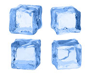 Cubes of ice on a white background. vector illustration