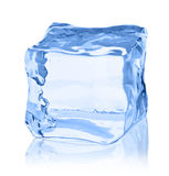 Cubes of ice on a white background. File contains the path to cut Royalty Free Stock Images