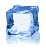Cubes of ice on a white background. File contains the path to cut Royalty Free Stock Image