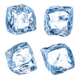 Cubes of ice on a white. With clipping path Stock Images