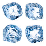 Cubes of ice on a white. With clipping path Stock Photography