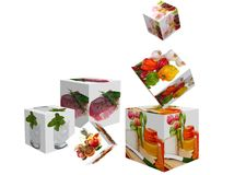 Cubes with images Stock Photos