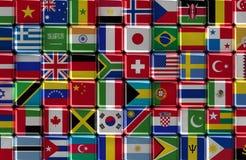 Cubes internationaux illustration stock