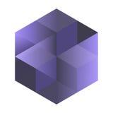 Cubes isométriques abstraits pour la conception Photos stock