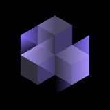 Cubes isométriques abstraits pour la conception Photographie stock