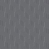 Cubes isométriques en modèle noir et blanc sans couture de résumé Cru et rétro fond géométrique minimal de la forme 3d Pap illustration libre de droits