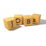 Cubes with jobs Stock Photography