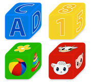 Cubes for kids Stock Images