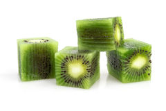 Cubes of kiwi Royalty Free Stock Images