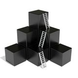 Cubes and ladders Royalty Free Stock Photo