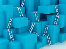 Cubes with ladders Royalty Free Stock Image