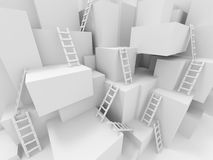 Cubes with ladders Stock Images