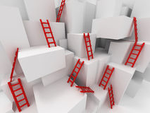 Cubes with ladders Stock Photo