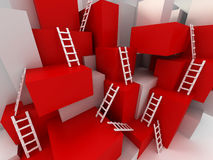 Cubes with ladders Royalty Free Stock Photography