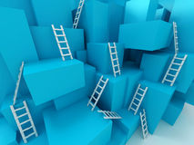 Cubes with ladders Royalty Free Stock Photo