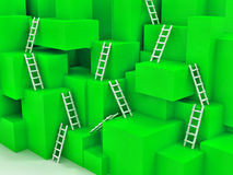 Cubes with ladders Stock Photography