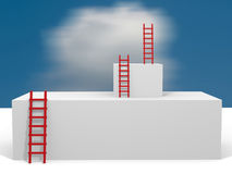 Cubes with ladders Royalty Free Stock Photos