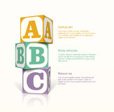 Cubes with lettern Royalty Free Stock Photos