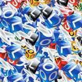 Cubes with letters Royalty Free Stock Photo