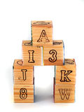 Cubes with letters Royalty Free Stock Photography