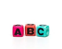 Cubes with letters Royalty Free Stock Image