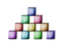 Cubes and letters Stock Image