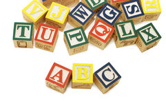 Cubes with letters isolated Stock Images