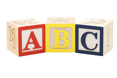 Cubes with letters isolated Stock Photos