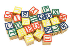 Cubes with letters isolated Royalty Free Stock Images