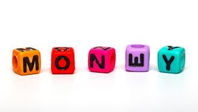 Cubes with letters Royalty Free Stock Photos