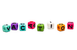 Cubes with letters Royalty Free Stock Images