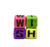 Cubes with letters Stock Photography