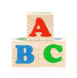 Cubes with letters Stock Image