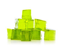 Cubes of Lime jelly Stock Image